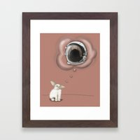 I Want To Be An Astronaut Framed Art Print