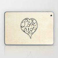 I Love You Sketch Laptop & iPad Skin