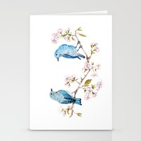 Mountain Bluebirds On Sa… Stationery Cards