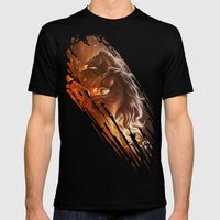 Fire With Horses Mens Fitted Tee Black SMALL