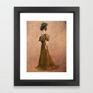 Woman In Yellow Dress Ed… Framed Art Print