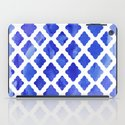 Watercolor Diamonds in Cobalt Blue iPad Case