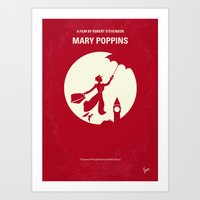 No539 My Mary Poppins minimal movie poster Art Print