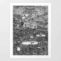 クラッタ市 1+2 Art Print