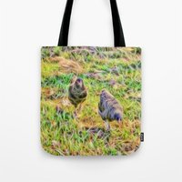 Hens On The Farm Tote Bag