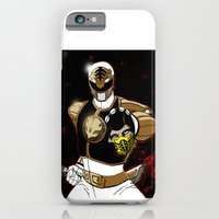 iPhone & iPod Case featuring White Ranger Vs. Scorpion by Shawn Norton Art