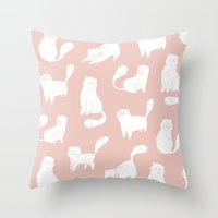 Little cats Throw Pillow