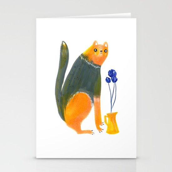 Kittens Like Flowers Too Stationery Card