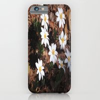 White Flowers iPhone 6 Slim Case