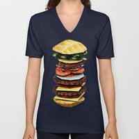 Graphic Burger Unisex V-Neck