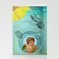 Angel Playing Music In S… Stationery Cards