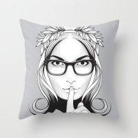 SHHHHH! Throw Pillow