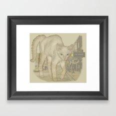 Ghost Kitty Framed Art Print