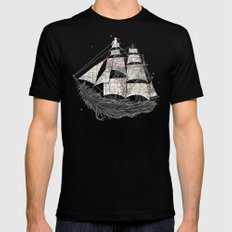 Wherever the wind blows Mens Fitted Tee SMALL Black