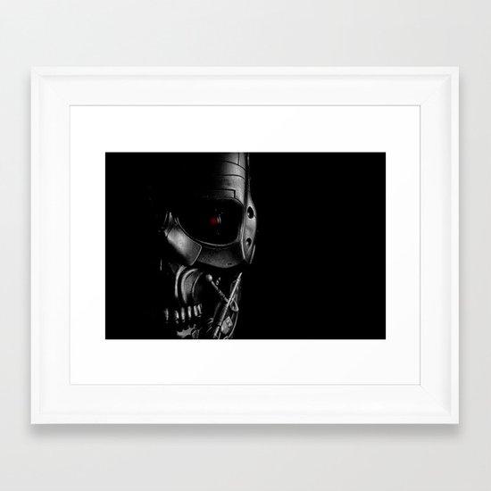 Endoskeleton Framed Art Print