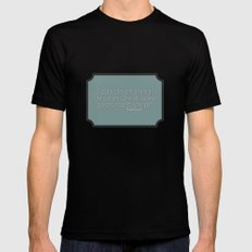 Anything SMALL Mens Fitted Tee Black