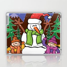 Christmas Snowman and Children Laptop & iPad Skin