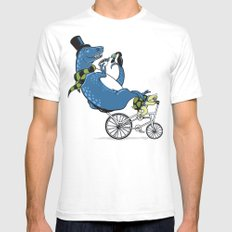 Tandem T-Rex Tastes Tea with Tucan, as Turtle Toils White SMALL Mens Fitted Tee