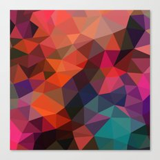 red polygon textures  Canvas Print