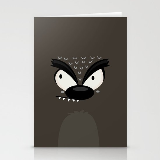 Wolf Stationery Card