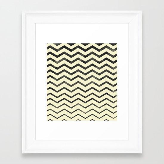 Zag (natural) Framed Art Print