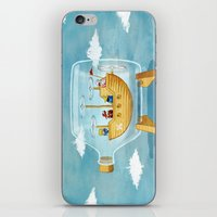AIRSHIP IN A BOTTLE iPhone & iPod Skin