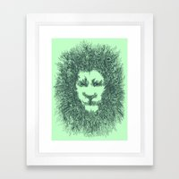 LIONATURE Framed Art Print