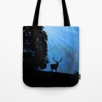 Moon & Deer - JUSTART © Tote Bag