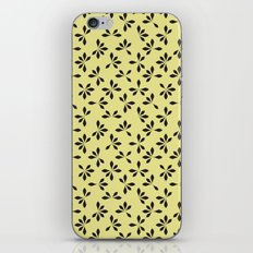 loves me loves me not pattern - banana yellow iPhone & iPod Skin