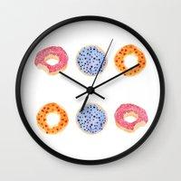 Doughnut Selection Wall Clock