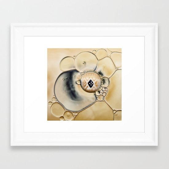 oil and water abstract Framed Art Print