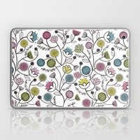 Black Border Florals Laptop & iPad Skin