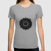 Gothic-mandala Womens Fitted Tee Athletic Grey SMALL