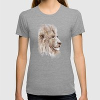 Wise lion Womens Fitted Tee Tri-Grey SMALL