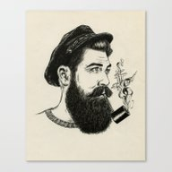 Canvas Print featuring The Old Sailor by Luis Patino