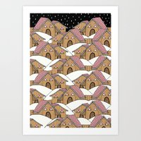 Art Print featuring A HOUSE IN THE MIDDLE OF NOWHERE by Ana Depuntillas