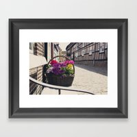 The Basket Framed Art Print