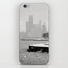 Snowy Chicago Skyline iPhone & iPod Skin