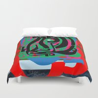 Hearts and Minds Are Not Straight Lines Never Let The Mind Go Asinine  Duvet Cover