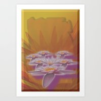 Flower and color Art Print