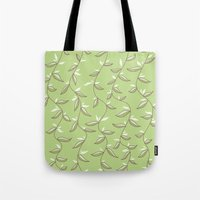 Lovely Green Leaves Tote Bag