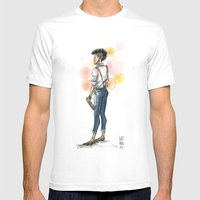 Androgypunk by Kat Mills Mens Fitted Tee White SMALL