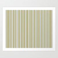 Lines 32 Gold on Platnium Art Print