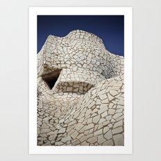 Barcelona: Cross Art Print