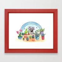 Household Plants Framed Art Print