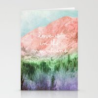 Love Is In The Mountains Stationery Cards
