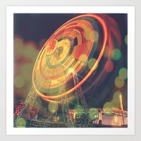 The Ferris Wheel II Art Print
