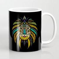 Tribal Lion On Black Mug