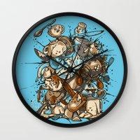 Kitchen Fight Wall Clock