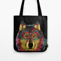 Cosmic Wild Animals Tote Bag